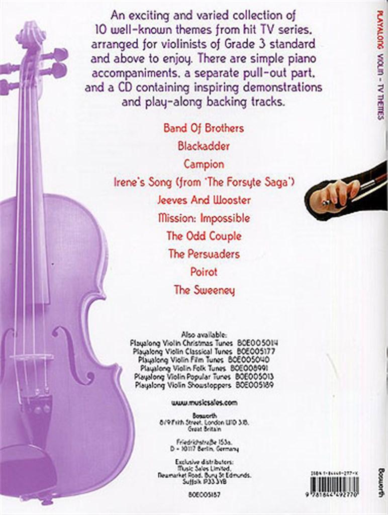 Playalong Violin: TV Themes
