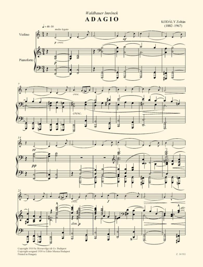 Adagio for Violin and Piano