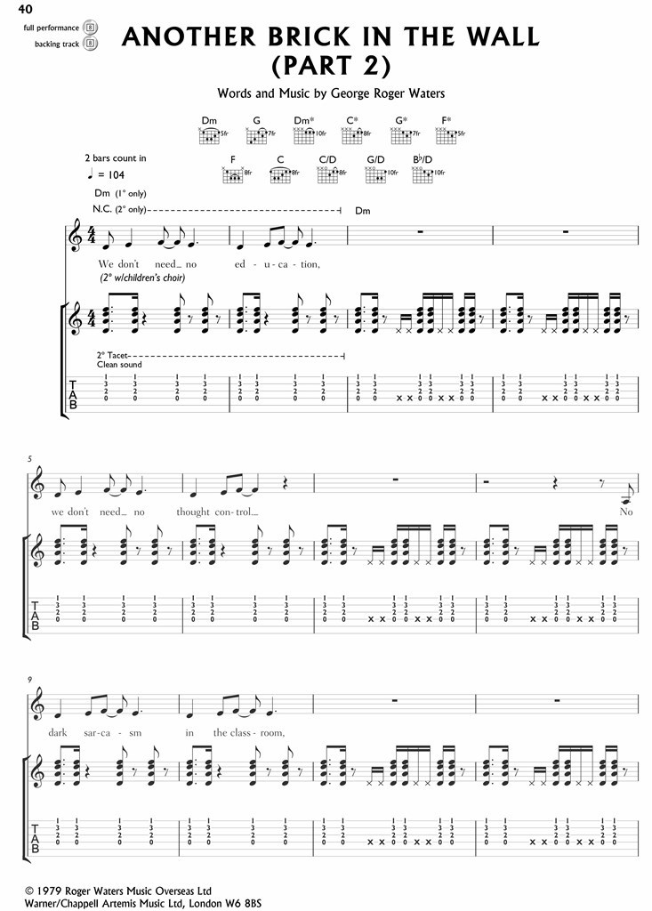 Authentic Playalong: Pink Floyd (Guitar)