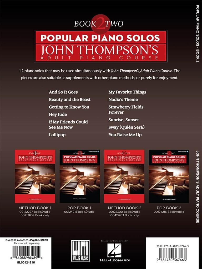 Popular Piano Solos: Adult Piano Course - Book 2