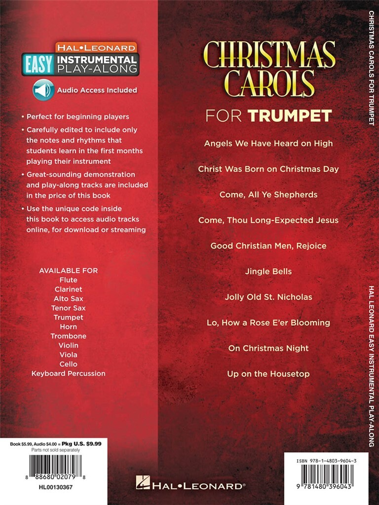 Christmas Carols - Trumpet: 10 Holiday Favorites