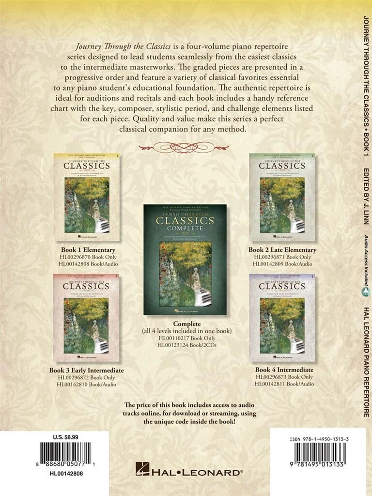 Journey Through the Classics: Book 1 Elementary