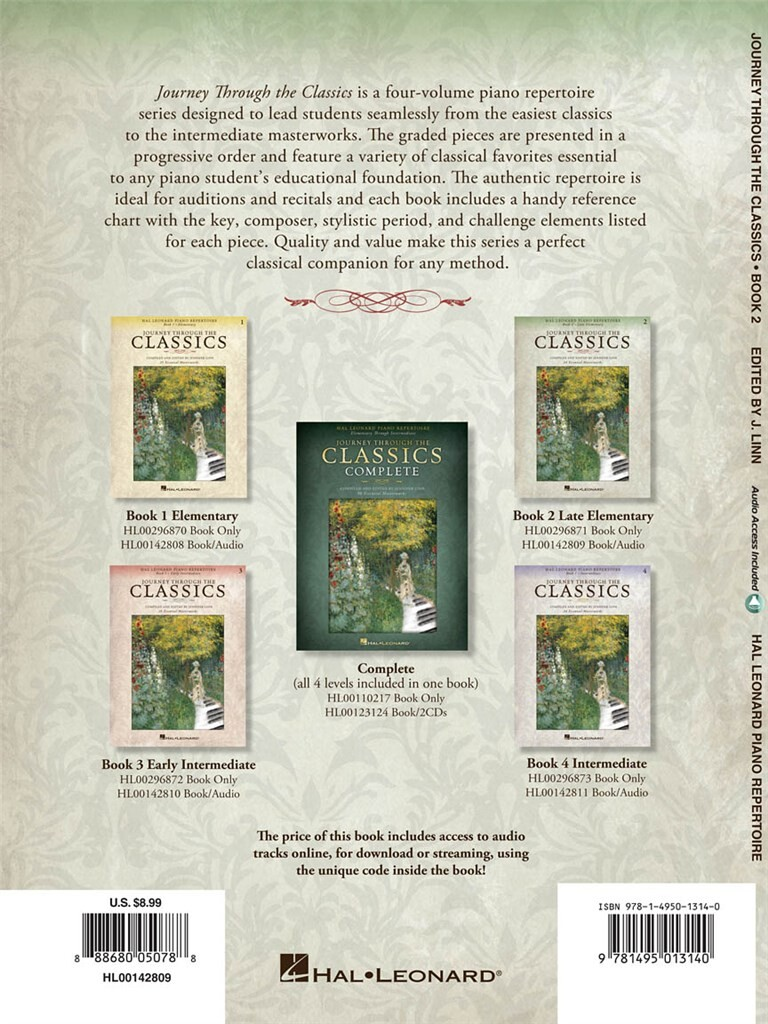 Journey Through the Classics: Book 2 Late Elementa