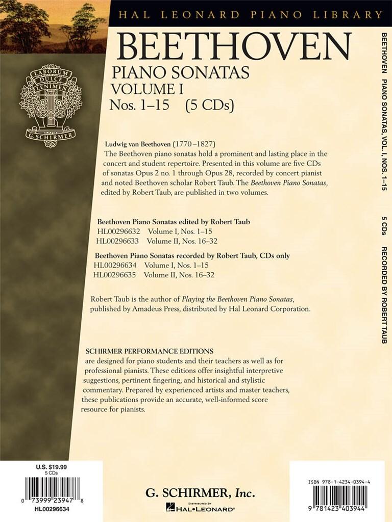 Piano Sonatas, Volume I - CDs Only