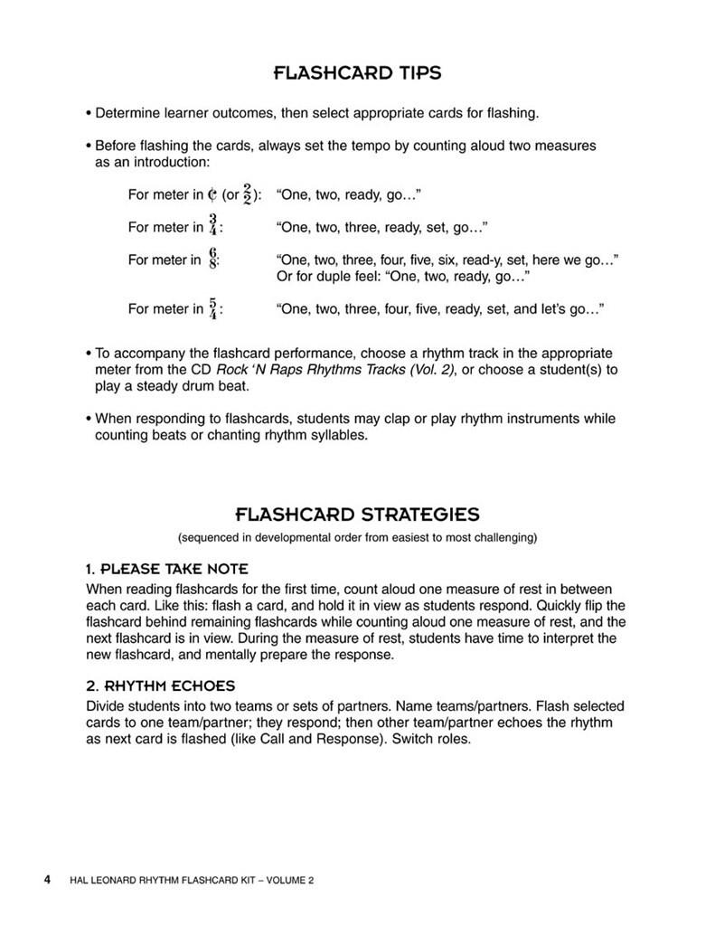 Hal Leonard Rhythm Flashcard Kit, Volume 2