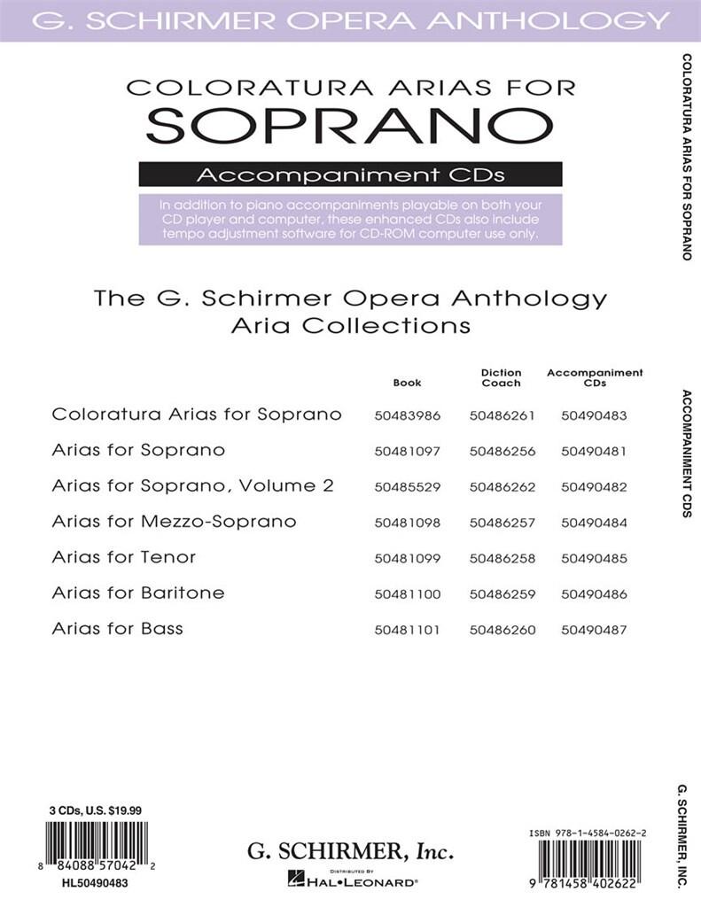Coloratura Arias For Soprano - 2 Accompaniment Cds