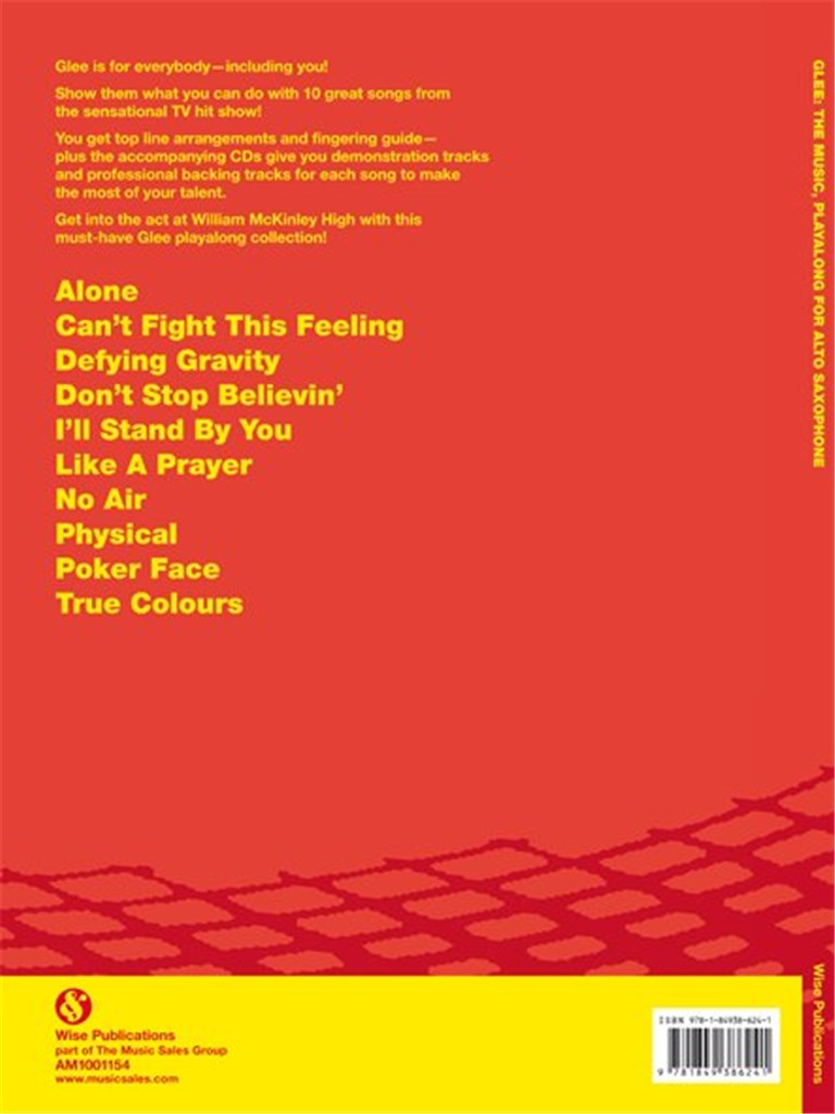 Glee Playalong - Alto Saxophone