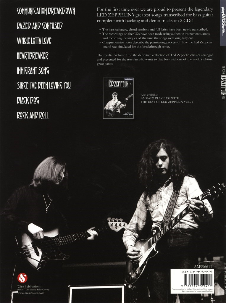Play Bass With... The Best Of Led Zeppelin-Vol. 1