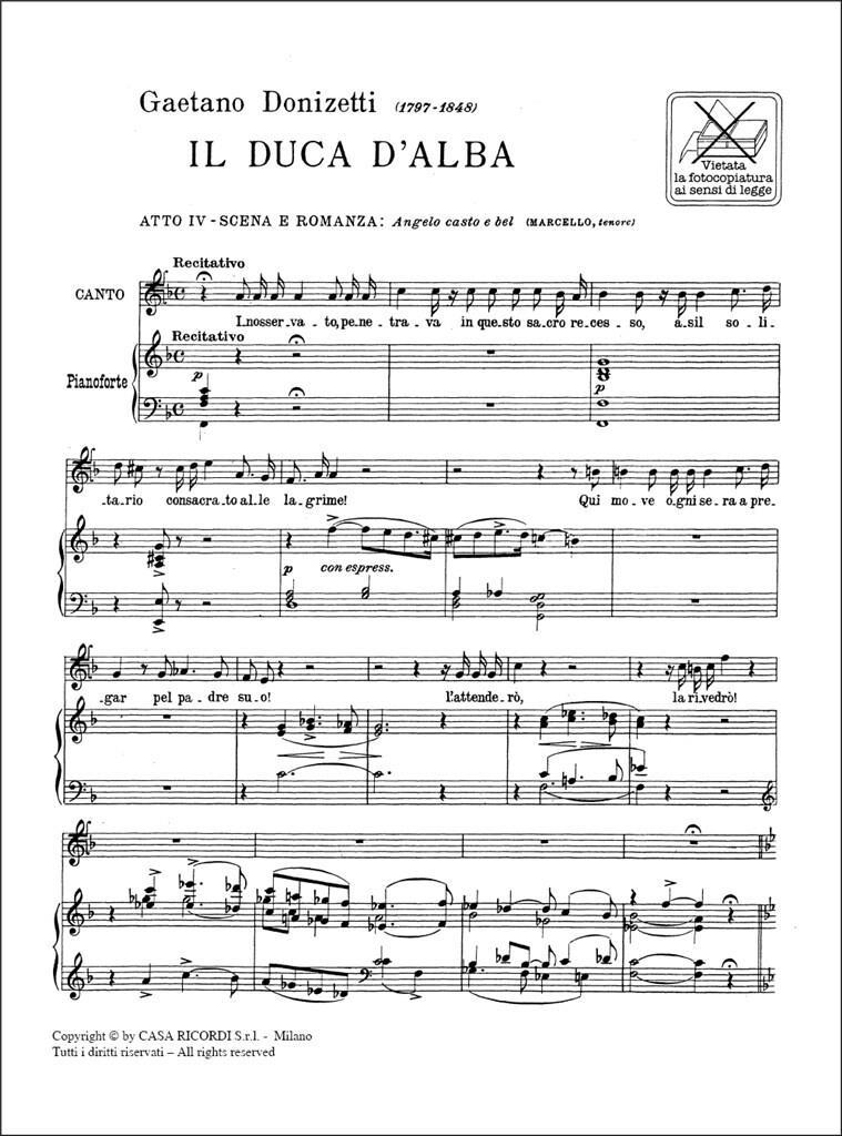 Il Duca D'Alba: Angelo Casto E Bel