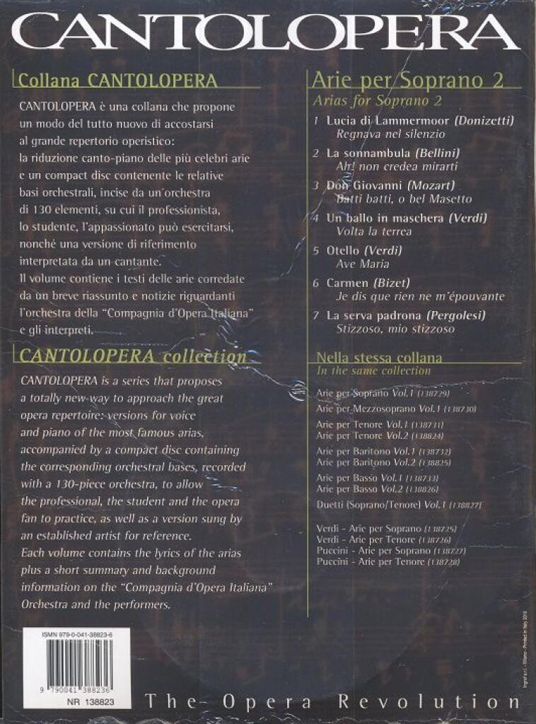 Cantolopera: Arie per Soprano Volume 2