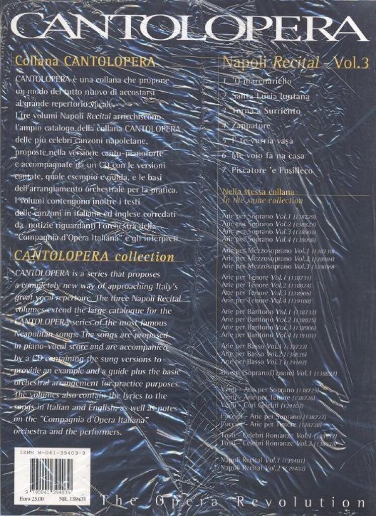 Cantolopera: Napoli Recital Vol. 3