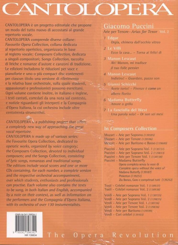 Cantolopera: Puccini Arie Per Tenore 2