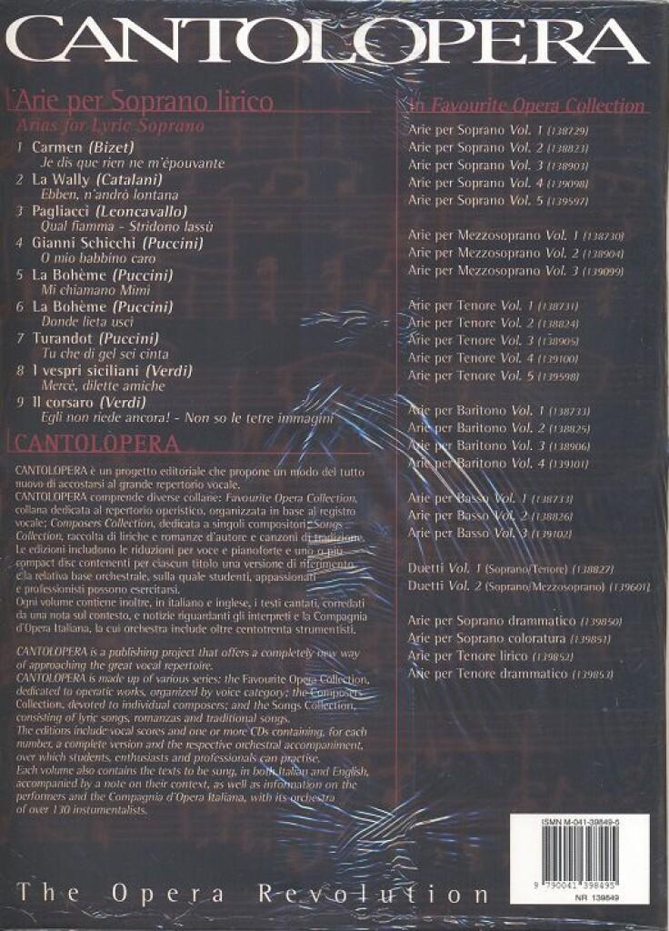 Cantolopera: Arie Per Soprano Lirico Vol. 1