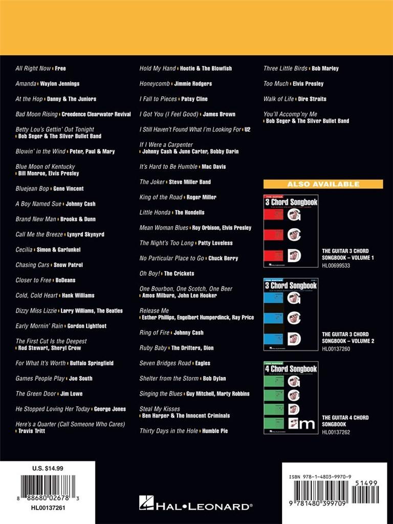 The Guitar Three Chord Songbook Volume 3 G C D Music Shop Europe