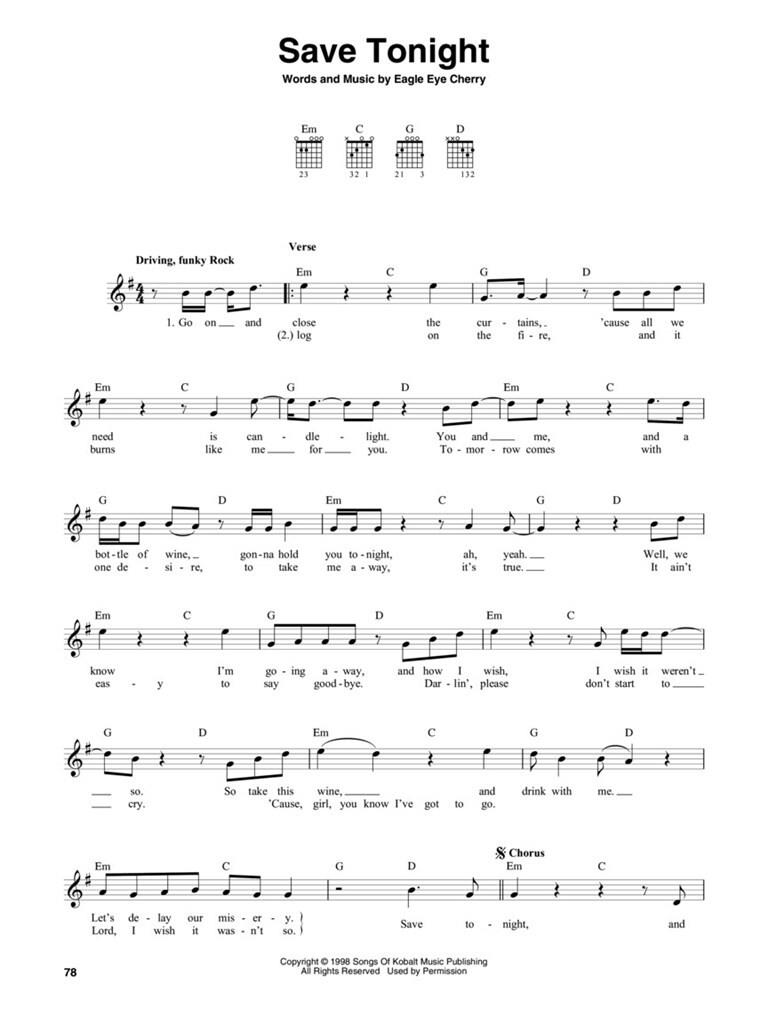 The Guitar Four Chord Songbook G C D Em Music Shop Europe