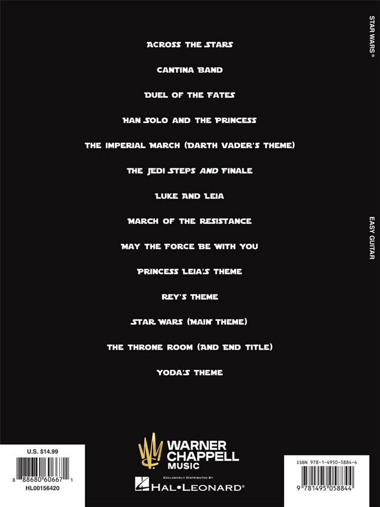 Star Wars (Easy Guitar TAB) | Music Shop Europe