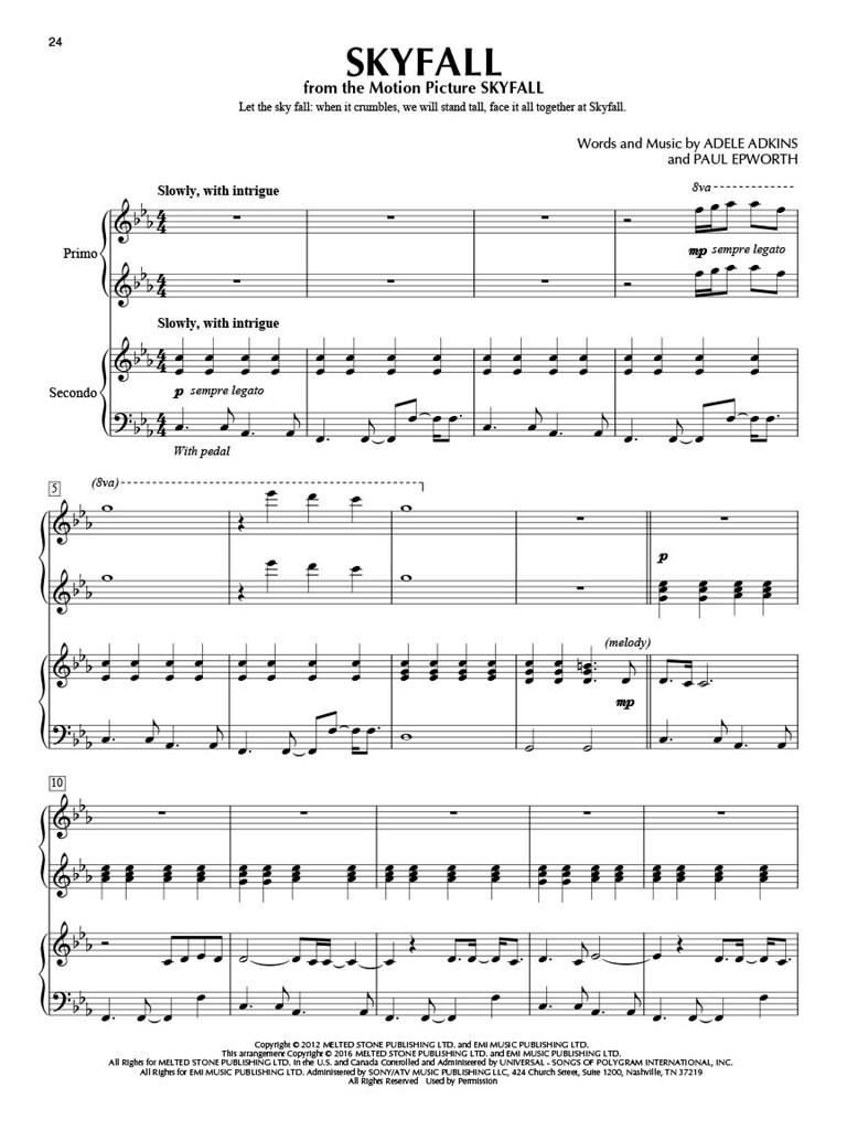 Adele for Piano Duet | Music Shop Europe