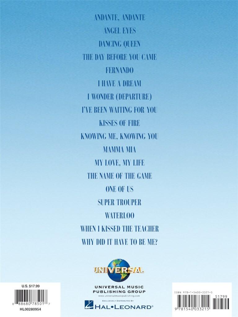Mamma Mia Here We Go Again Piano Vocal Guitar Sheet Music Book Waterloo Movie