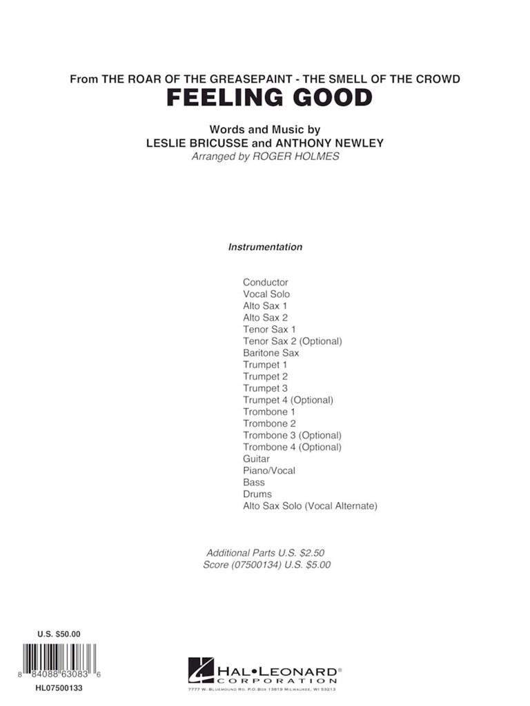 Feeling Good Vocal Solojazz Ens Music Shop Europe