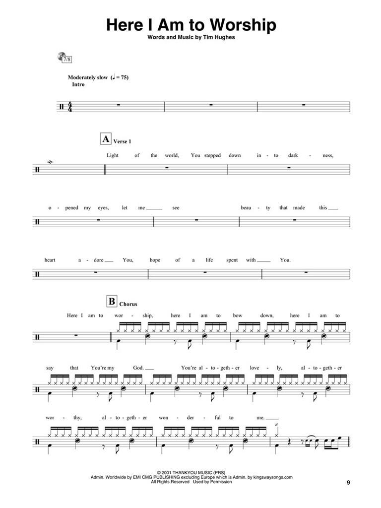 Here I Am To Worship - Drums Edition | Music Shop Europe