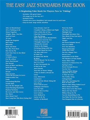 The Easy Jazz Standards Fake Book - 100 Songs | Music Shop
