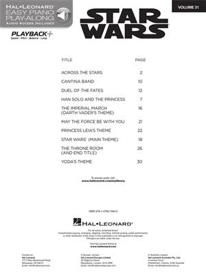 Star Wars (Easy Piano) | Music Shop Europe
