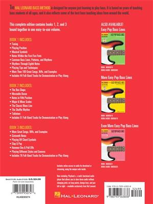 Contains Books 1 Complete Edition 2 Hal Leonard Bass Method And 3 Bound Together in One Easy-to-use Volume