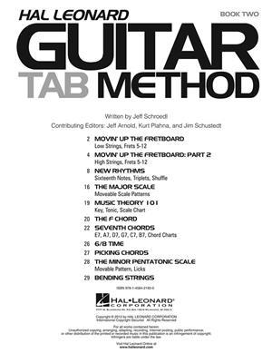 Hal Leonard Guitar TAB Method | Music Shop Europe