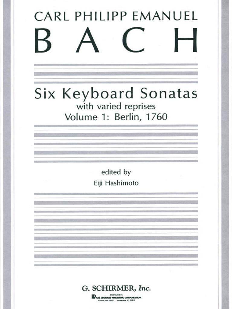 Six Keyboard Sonatas - Volume 1: Berlin, 1760   Music Shop Europe