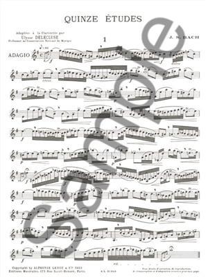 Quinze Études For Clarinet