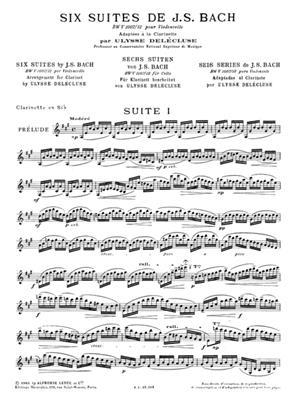 Six Suites BWV1007-1012