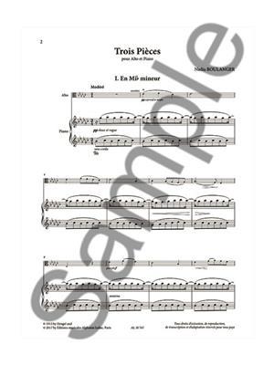 Trois Pièces Pour Alto Et Piano
