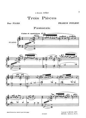 Trois Pieces Pour Piano