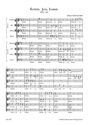 Motet No.5 Komm, Jesu, komm BWV 229