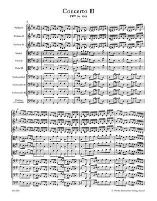 Brandenburg Concerto No.3 In G, BWV 1048