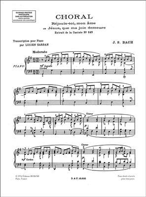 Choral : Jésus, que ma joie demeure