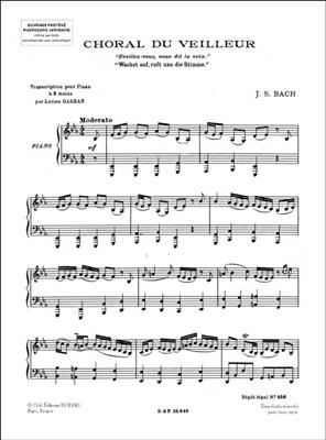 Choral Du Veilleur Piano