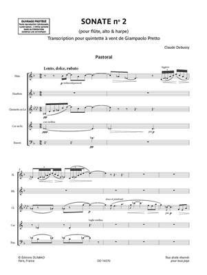 Sonate n. 2 pour flûte, alto & harpe