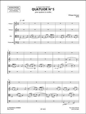 Quatuor à cordes No 5