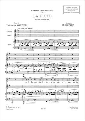 La Fuite. Duo Pour Soprano, Tenor Et Piano