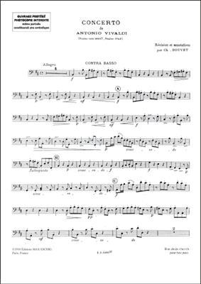 Concerto Op 3 N 10 4 Vl Contrebasse