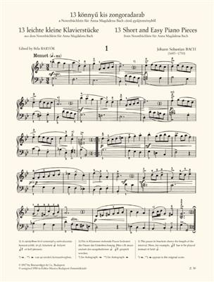 Notenbüchlein für Anna Magdalena Bach