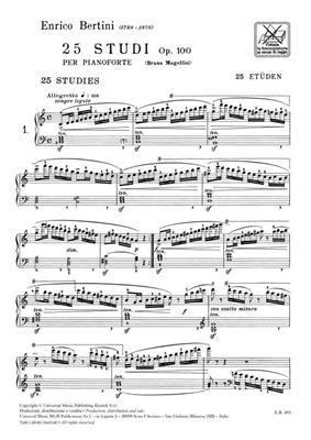25 Studi Per Il 1° Grado Op. 100