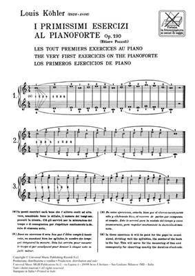 I Primissimi Esercizi Al Pianoforte Op. 190