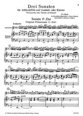 3 Sonaten (Richert, Sniqula)