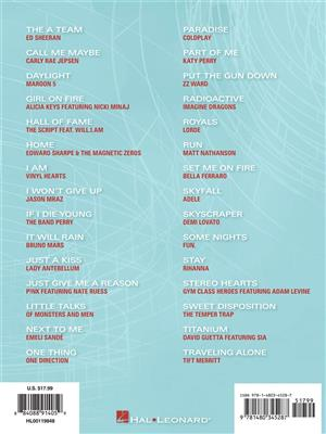 Popular Sheet Music: 30 Hits From 2010-2013