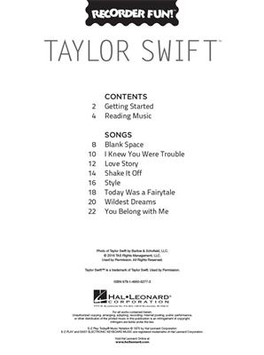 Taylor Swift - Recorder Fun!