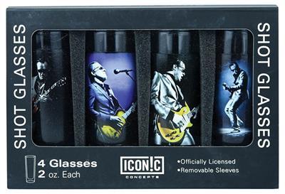 Joe Bonamassa 4-Piece Shot Glass Set -Lithos 1 & 2