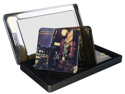 David Bowie Tin Coaster Set - Ziggy Stardust
