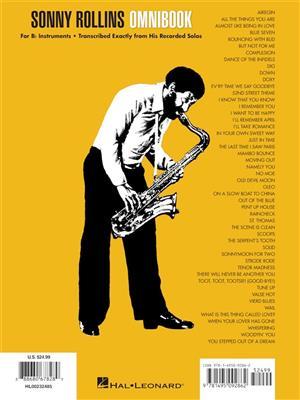 Sonny Rollins Omnibook for B-Flat Instruments